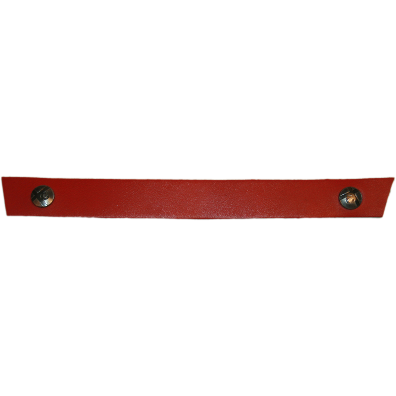 Tessa Narrow Red Snap Strap
