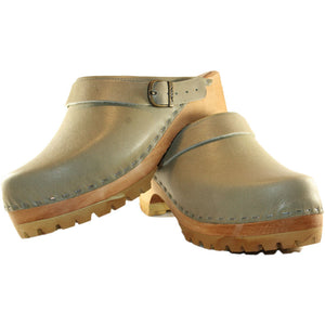 Sage Green Anna Heel Strap Mountain Clogs