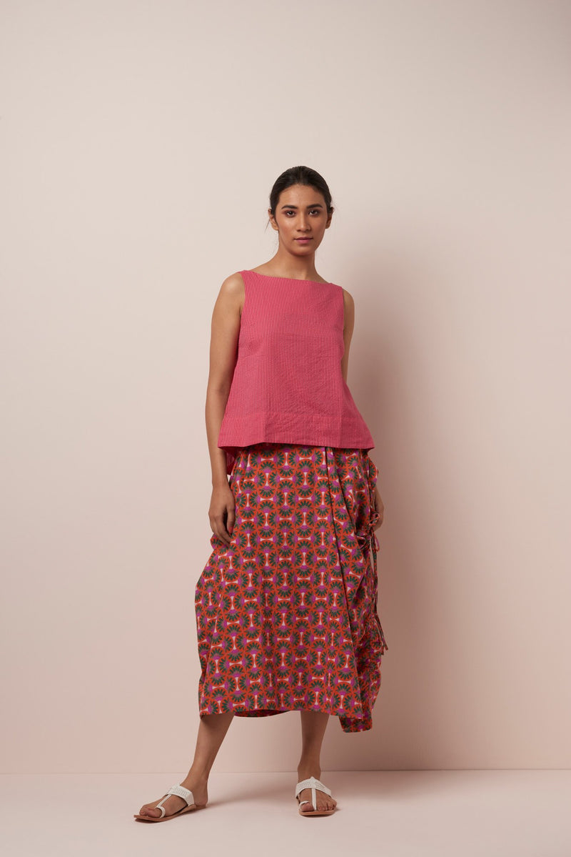 Asha World Designs Freija Skirt in Orange-Pink