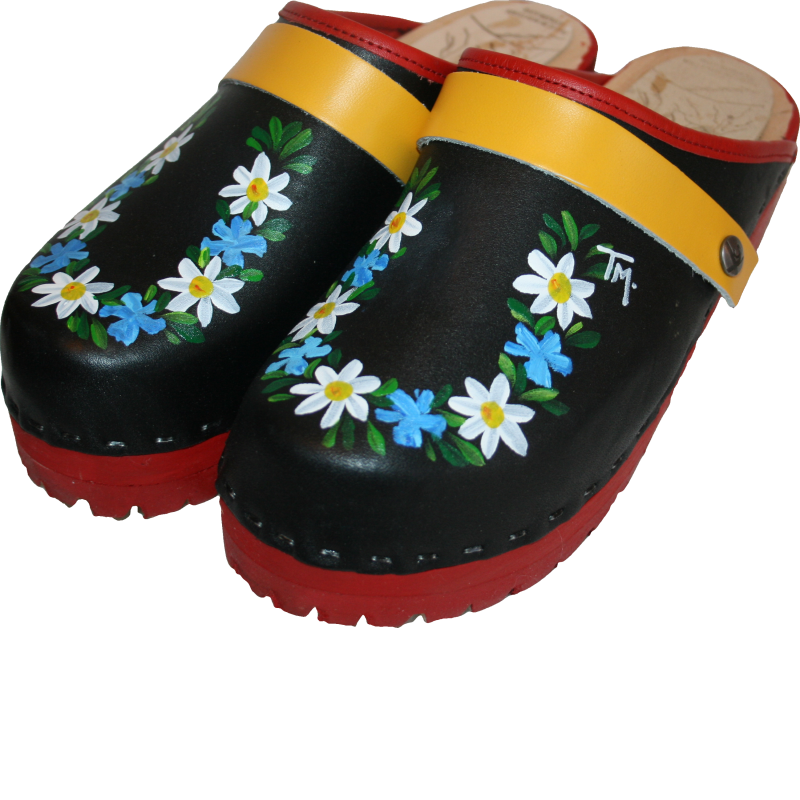 Lugged sole Hand painted Skane Tessa Clogs Made i minturn CO