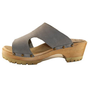 New Brita Sandal in Steel Nubuck  with decorative Nails