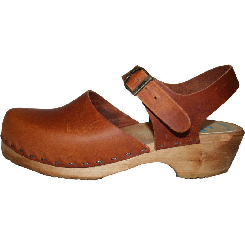 Traditional Heel Moa Sandal Tessa Clog in Sunrise Oil