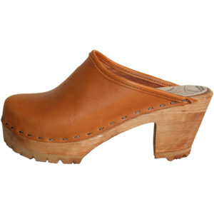 Sunrise Oil Tanned Leather High Heel Mountain Clog