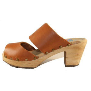 Sunrise Oil Tanned High Heel Two Strap Sandal