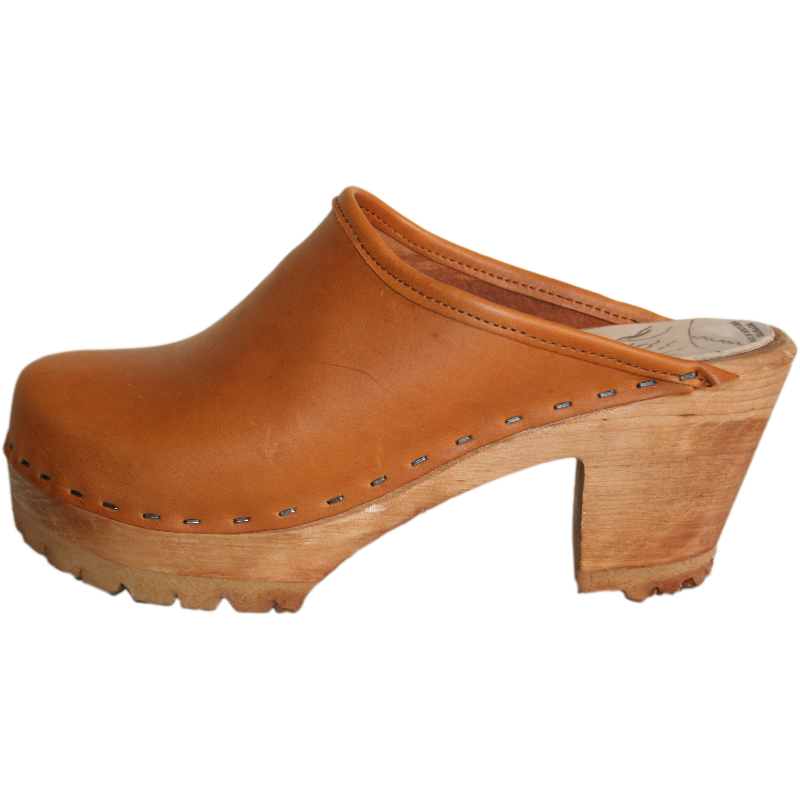 Sunrise Oil Tanned Leather High Heel Mountain clogs