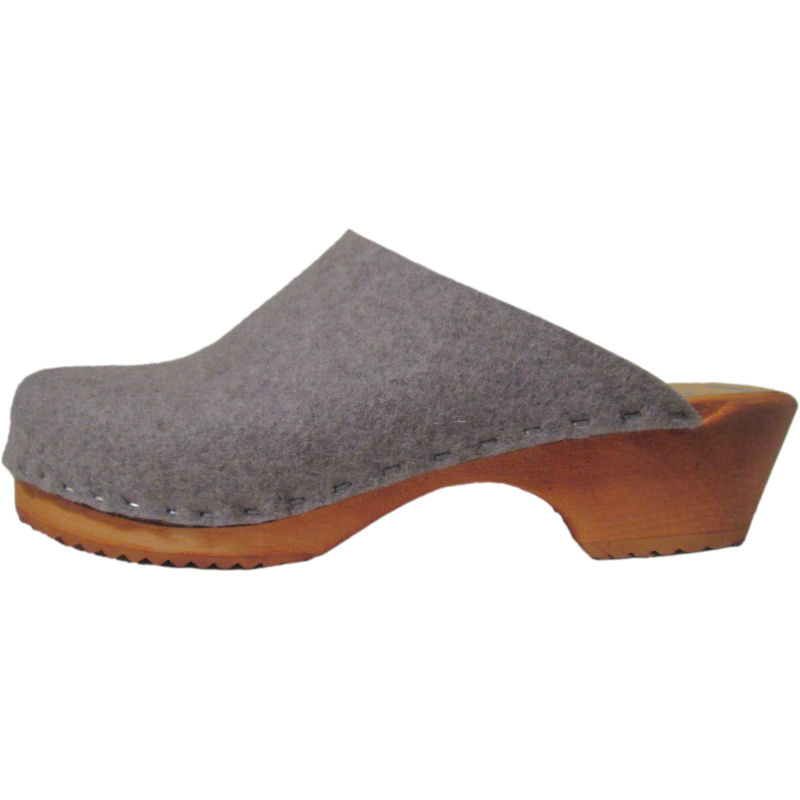 Traditional Heel Granite Felt Wool Tessa Clogs