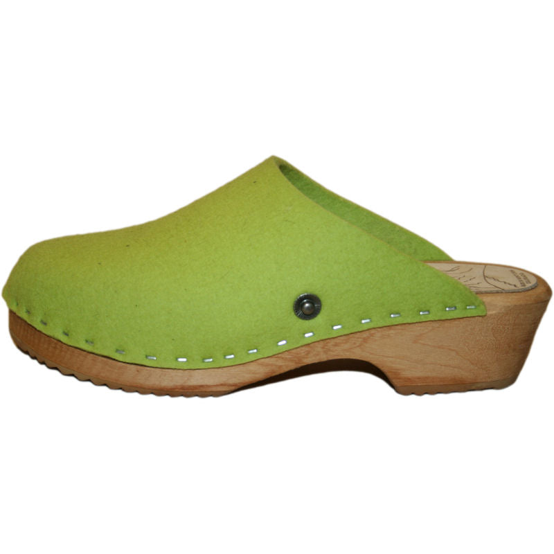Traditional Heel Wool Lime Green