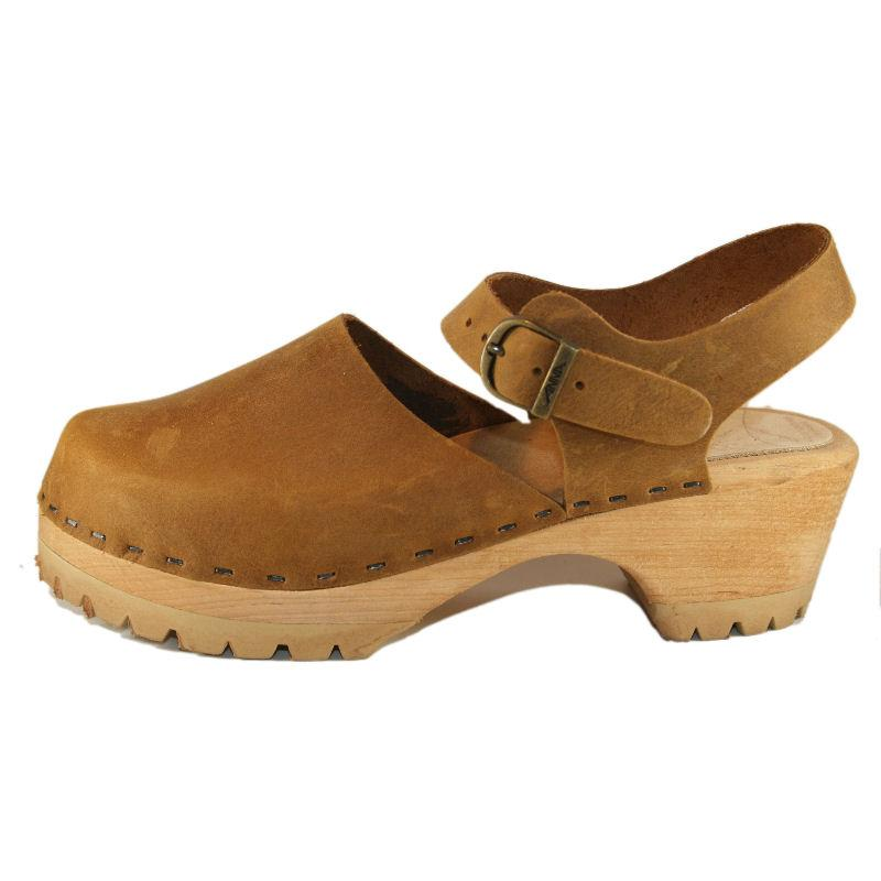 Tobacco Oil Tanned Leather Traditional Heel Moa Sandal