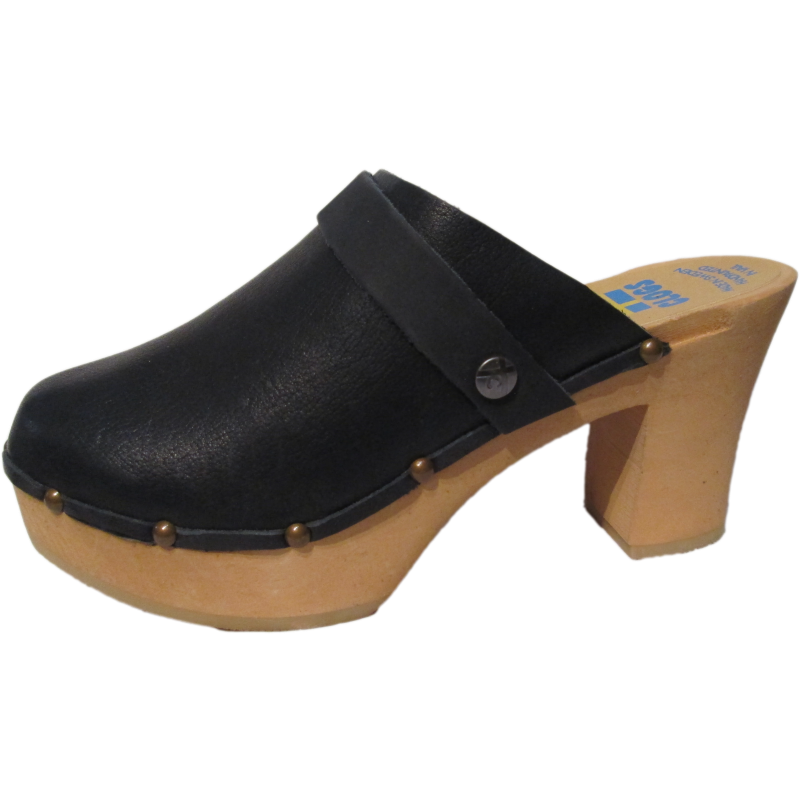 Black Oil Tanned Ultimate High Clogs