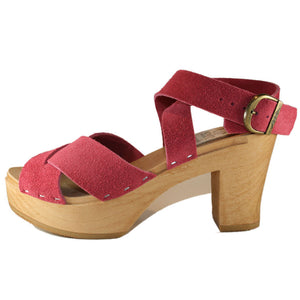 Ultimate High Heather Criss Cross Sandal in your choice of Leather