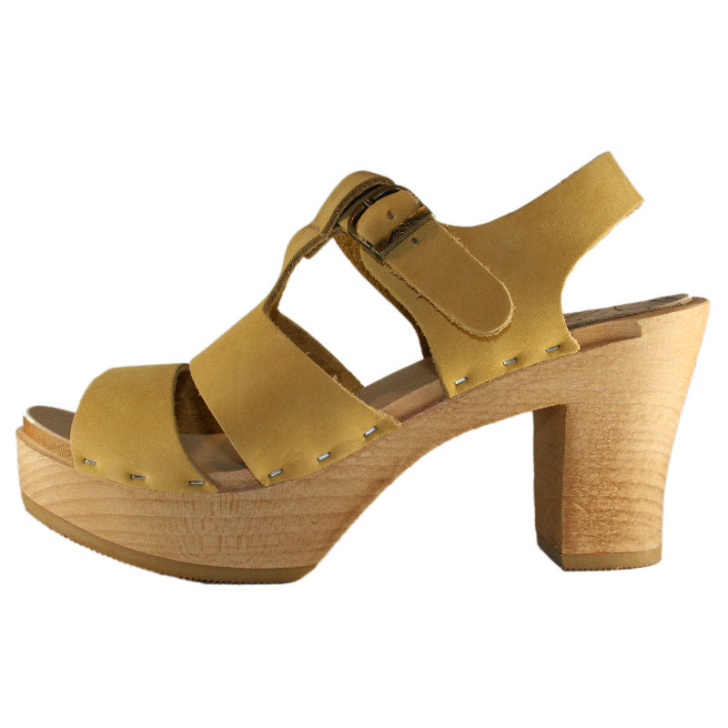 Tina Ultimate High Sandal in Honey Nubuck Leather
