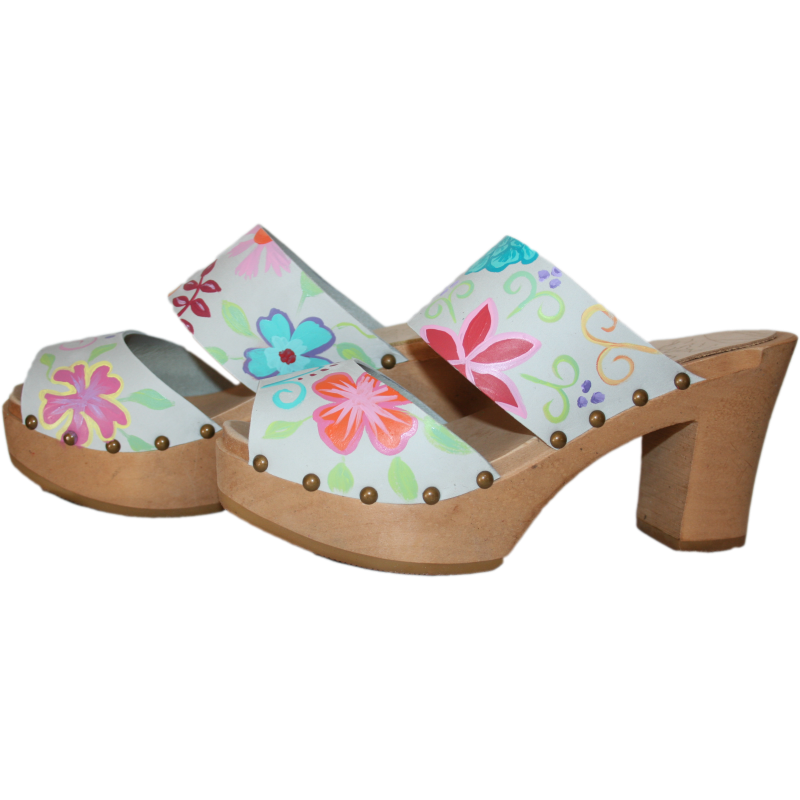 Ice Gray Nubuck Blossom Ultimate High Two Strap Sandal