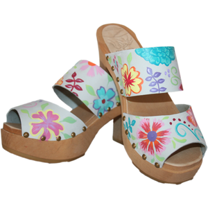 Ultimate High Ice Gray Nubuck Blossom Two Strap Sandal