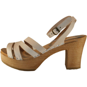 Ultimate High Nude Vegetable Tanned Leather Kathrine Sandal