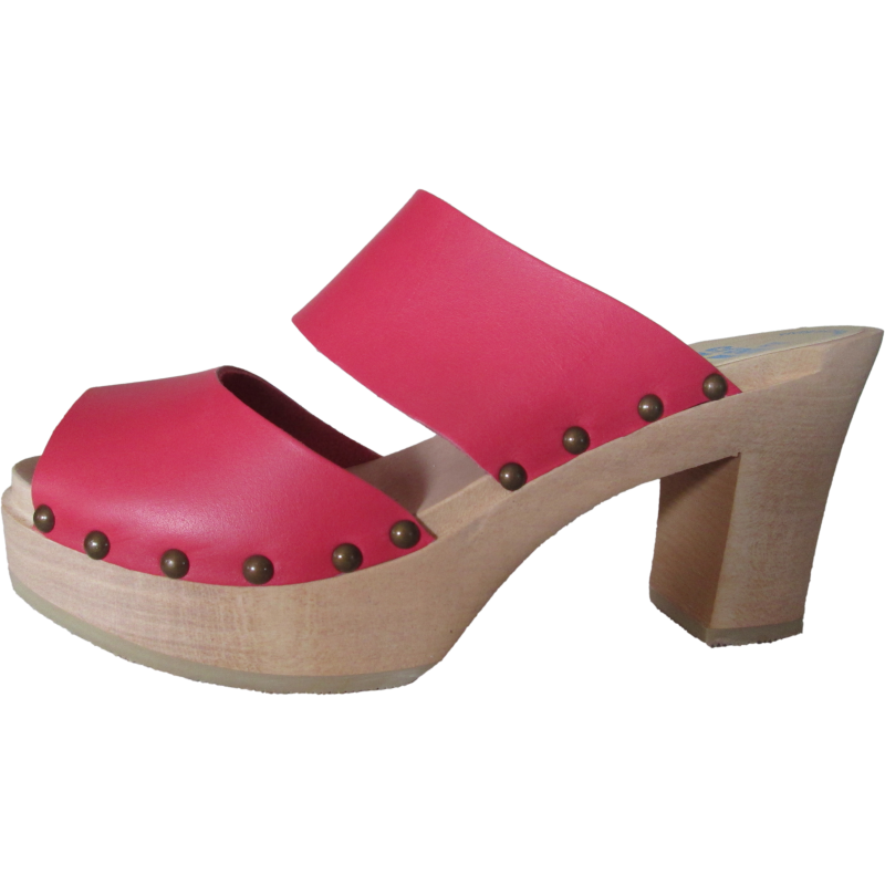 Ultimate High Two Strap Sandal in Coral Red