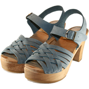 Faded Denim Nubuck Ultimate High Madeleine  Sandal