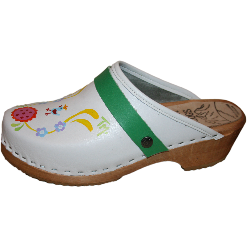 Tessa Hand painted traditional heel clogs