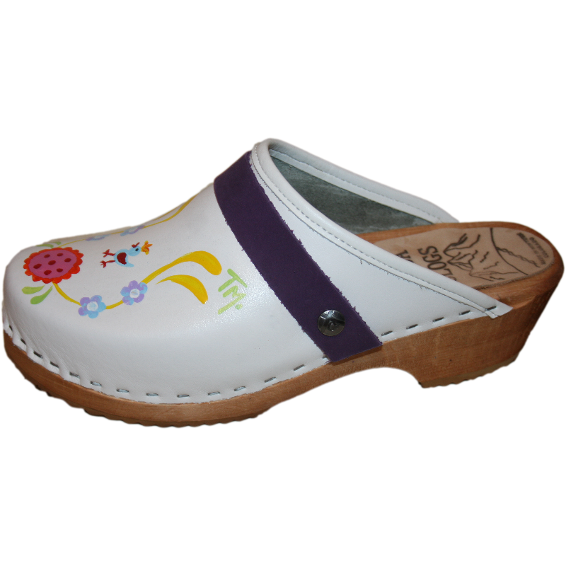 Hand painted Snap Strap Clogs