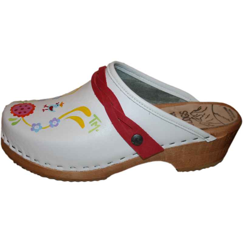 Traditional Heel Hand painted Tessa Clogs