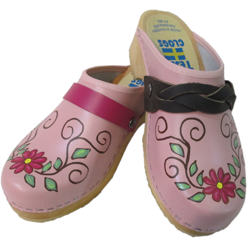 Light Pink Traditional Heel Hand Painted Sara Snap Strap