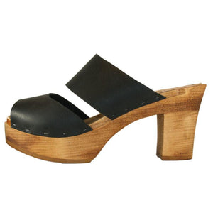 Tessa Ultimate High Sandal in Black Leather
