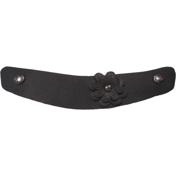 Black Ana Maria Flower Snap Straps