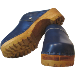 Plain Blue Snap Strap Mountain clogs