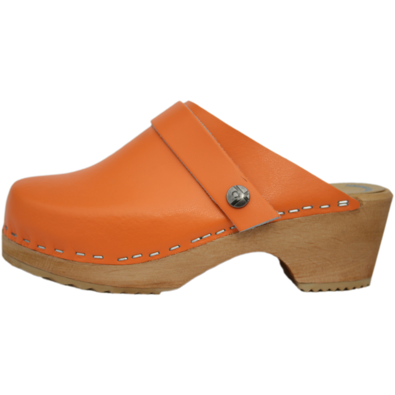 Tessa Children's Tangerine Orange Clogs