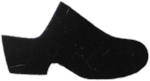 High Heel Felt Wool Black Clog