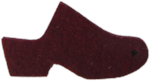 High Heel Felt Wool Cherry Clog