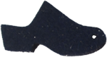 High Heel Felt Wool Dark Blue Clog