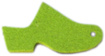 High Heel Felt Wool Lime Green