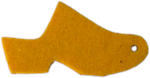 High Heel Felt Wool Mustard Yellow Clog