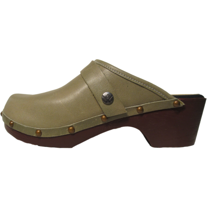 FLEX Tessa Clog in Sage Green with Decorative Nails