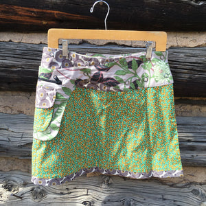 Asha Reversible Wrap Skirt - Green