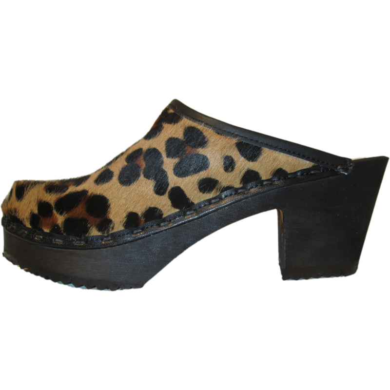 High Heel Leopard with Black Sole