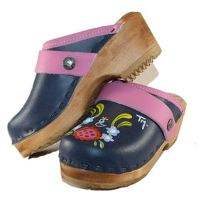 Tessa Children's Hand Painted Blue Klara Pair