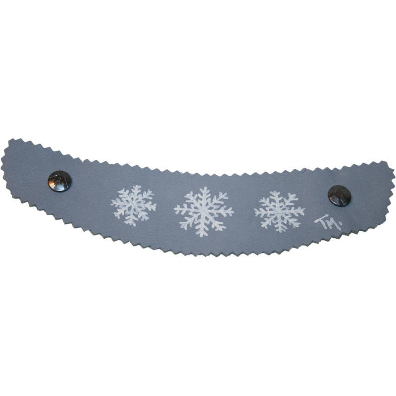 Hand Painted Light Blue Snowflake Strap