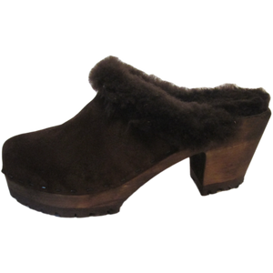 High Heel Mountain Shearling lined Clogs