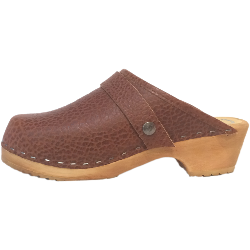 pebble brown clog, textured clog