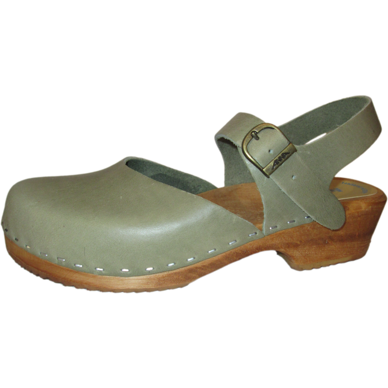 Traditional Heel Sage Green Marina Sandal
