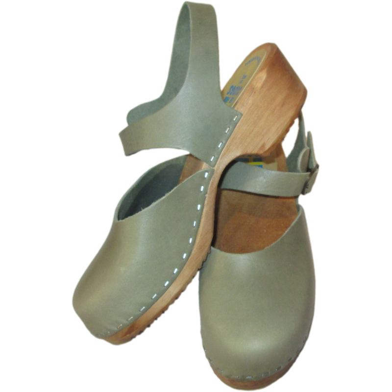 Sage Green Traditional heel Marina Sandal
