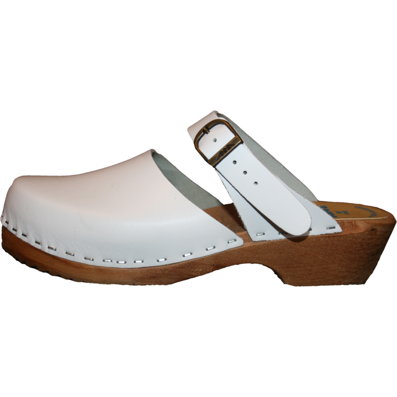 Traditional Heel White Maja Sandal