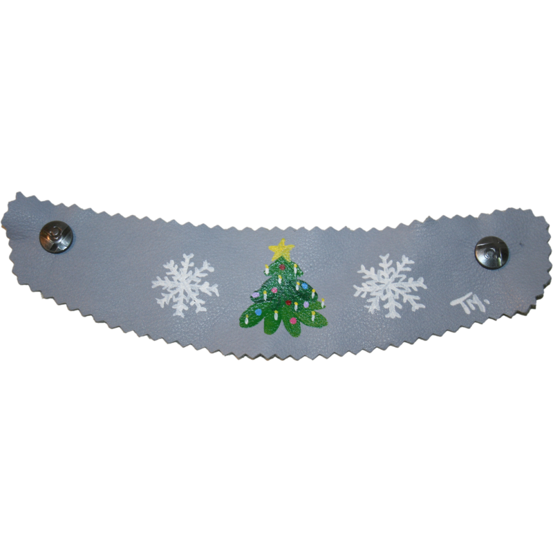 Light Blue Christmas in Vail Strap