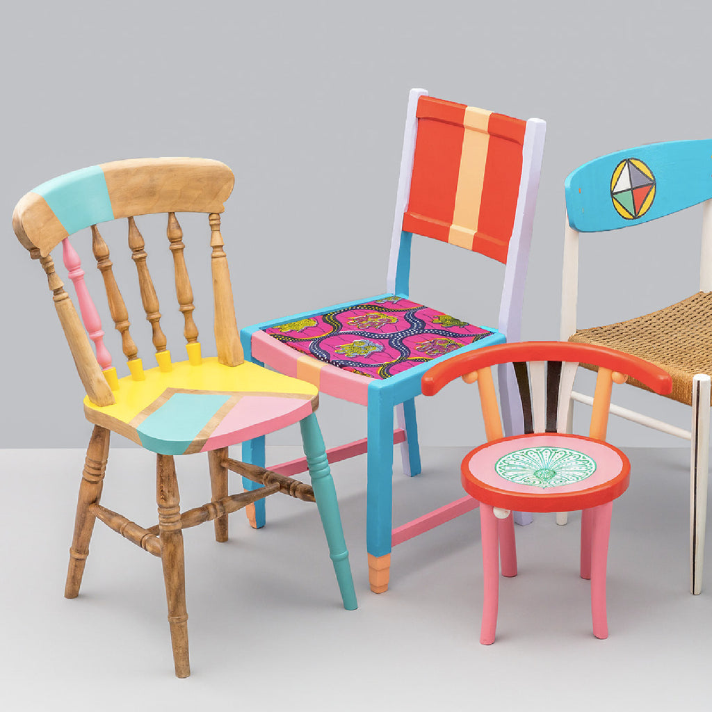 Yinka Ilori: Up-Cycled Chairs