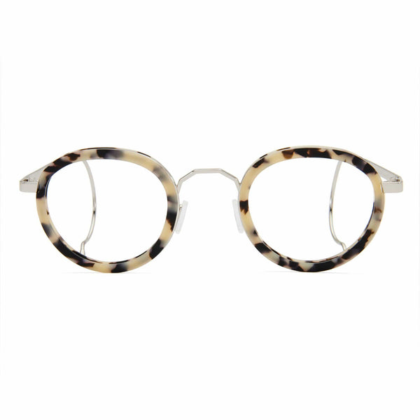 London Fields Spectacles - White Tortoise - Home Try-On