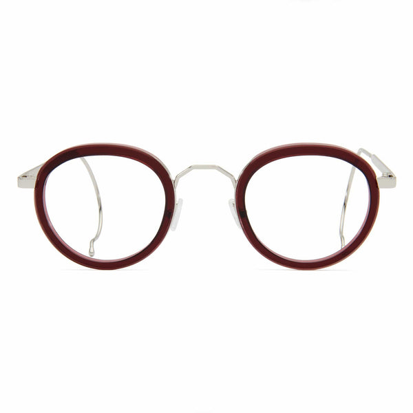 London Fields Spectacles - Burgundy - Home Try-On