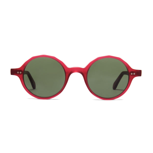 Løkka Sunglasses - Matt Poppy Red - Home Try-On