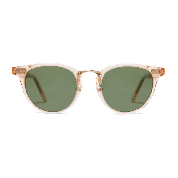 Monti Sunglasses - Apricot | Green - Home Try-On