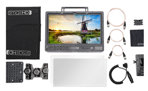 "SmallHD 1303 HDR 13"" Production Monitor V-Mount Kit - Dansk AV-teknik"